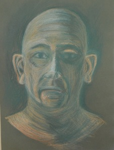 6 - Sixth Self Portrait Hard Pastel