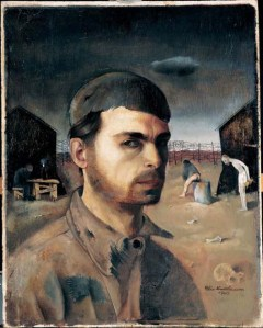 Self Portrait in the Camp 1944 Felix Nussbaum