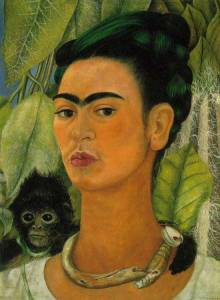 Frida Kahlo Self Portrait with a Monkey 1938