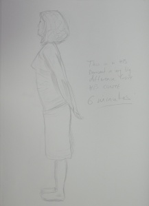 Drawing 10 - Standing Up - HB on A3