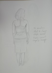 Drawing 12 - Standing Up - HB on A3