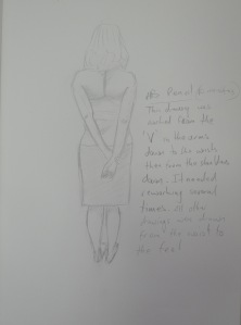 Drawing 13 - Standing Up - HB on A3