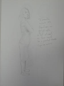 Drawing 9 - Standing Up - HB on A3