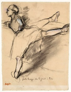 Edgar Degas - Danseuse à la barre - Dancer at the Barre c.1880