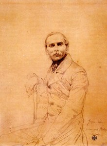 Jean Auguste Dominique Ingres Portrait Drawing