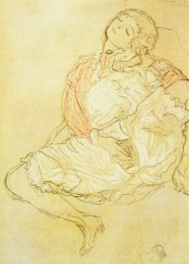 Klimt Woman Seated with Thighs Apart