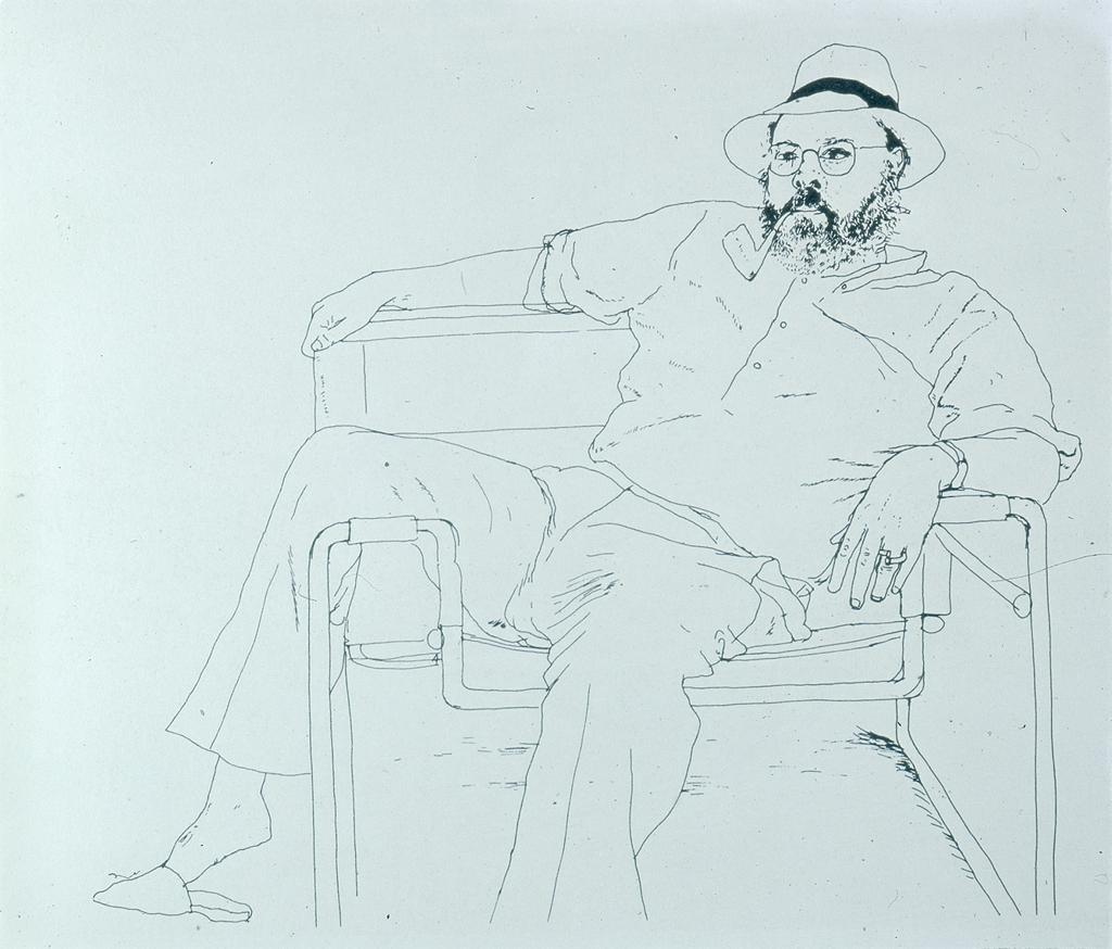 David Hockney Ink Drawings Line Drawing David Hockney 1