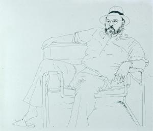 Line Drawing David Hockney 1