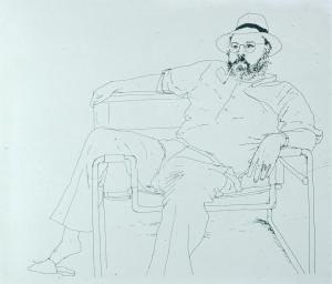 Line Drawing David Hockney 1