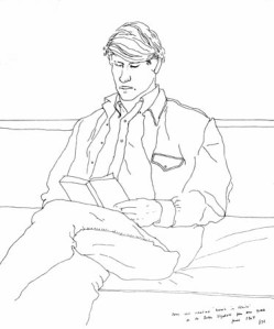 Line Drawing David Hockney 3