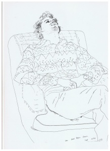 Line Drawing David Hockney 4