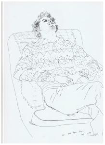 Line Drawing David Hockney 4