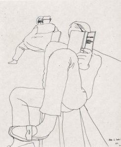 Line Drawing David Hockney 5