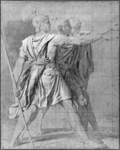 Study for The Oath of Horatii