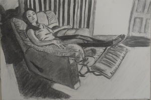 Tone and Form - 3rd Drawing Compressed Charcoal A3