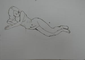 15 - Ink on A3 - Blotchy