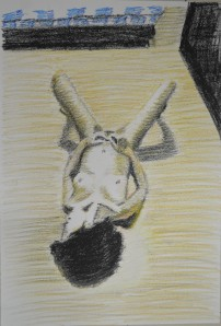 2 - Oil Pastel with Horizontal Hatching