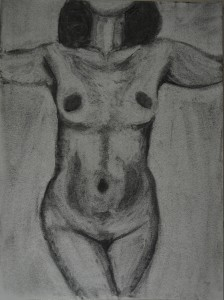 Charcoal Study Lifting off