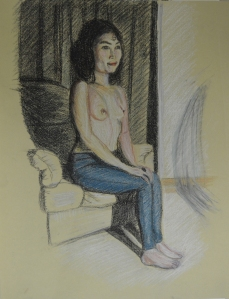 Tonal Study Nude in Colour Pastel