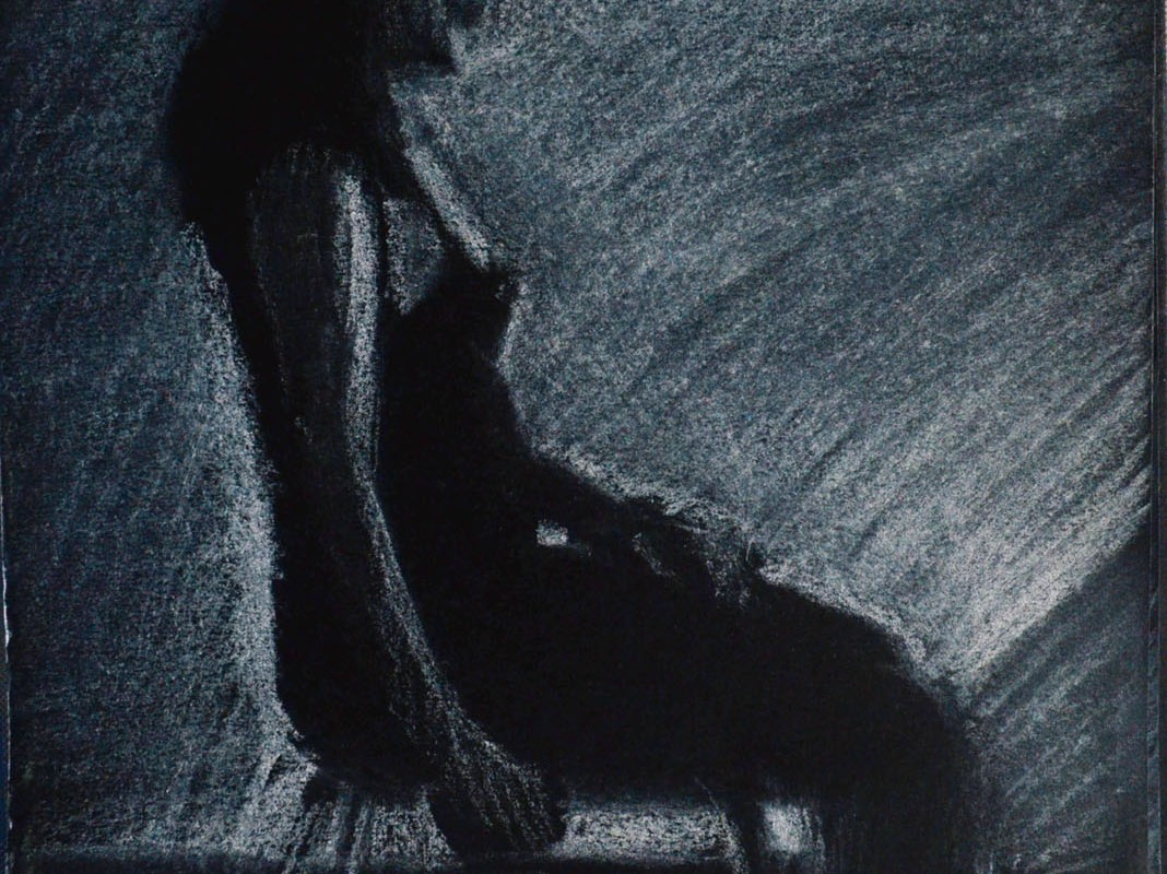 3rd Tonal Drawing on Black Paper A6
