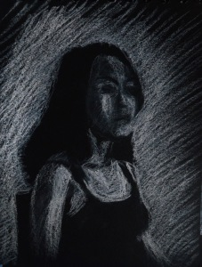 6th Tonal Drawing on Black Paper A6