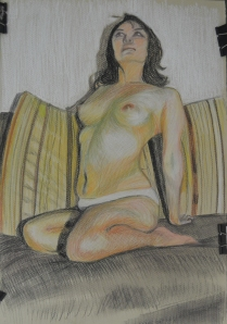 Large Tonal Drawing in Colour Pastel
