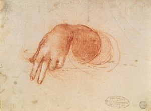 Leonardo da Vinci - Study of a hand
