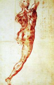 Michelangelo - Nude study for the Battle of Cascina