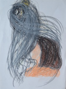 13 - Oil pastel - Too dark - Trying not to Use White