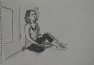 5 - Another Try at First Pose Water Soluble Pencil