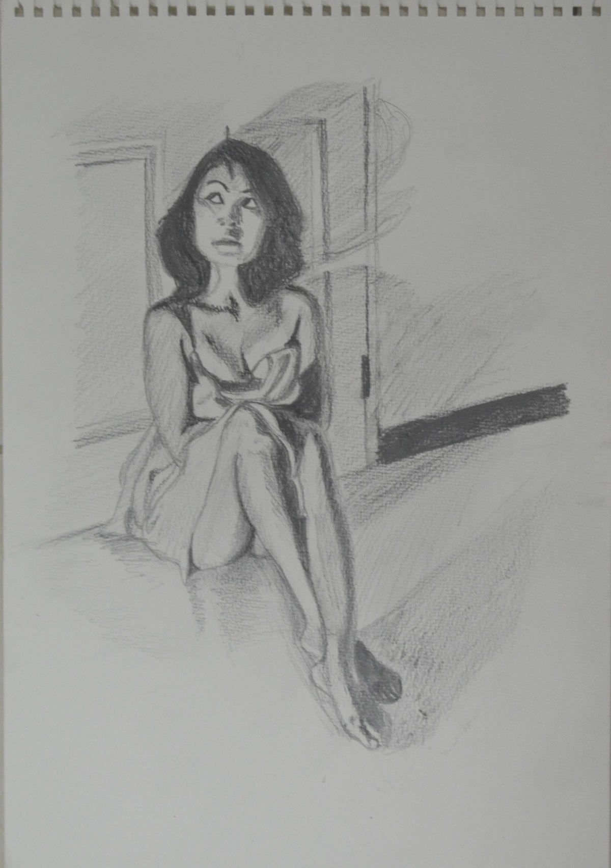 8 - WaterSoluble Pencil Sketch with Door Handle