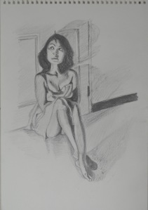8 - WaterSoluble Pencil Sketch with Door Handle