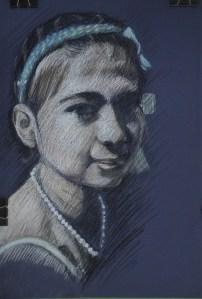Tonal Portrait in Pastel