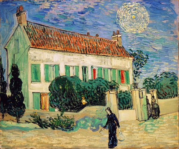 White Vans Drawings Van Gogh White House at Night
