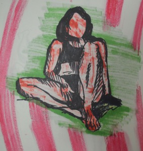 2 Quick Study with Marker Showing through