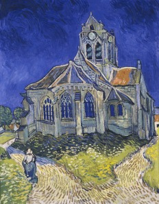 4 - Vincent van Gogh The Church in Auvers sur Oise, View from the Chevet